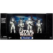 White Clone Troopers 4pk w/o battle damage in white box