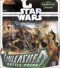 Unleashed Battle Packs Kashyyyk Wookiee Warriors ROTS 2005