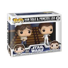 Pop 2pk Han Solo & Princess Leia 40th TESB