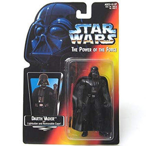 Darth Vader with removable cape and lightsaber POTF 1995