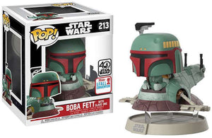 Pop 213 Boba Fett with Slave 1 40th Anniversary