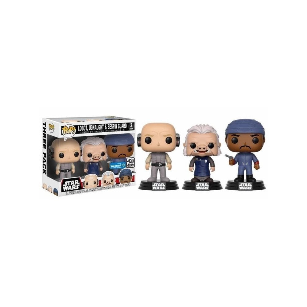 Pop 3pack Lobot, Ugnaught & Bespin Guard 40th Anniversary