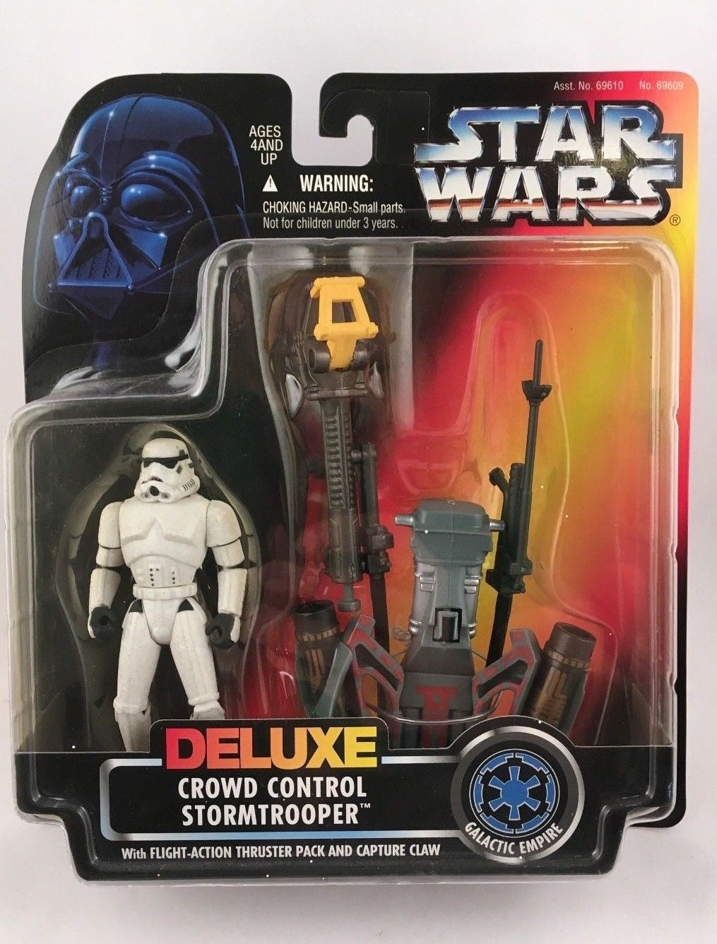 Deluxe Crowd Control Stormtrooper w/thruster and claw POTF 1996