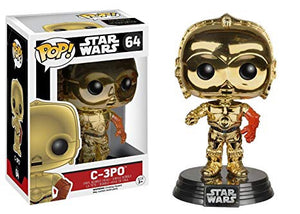 Pop 64 C-3PO (Metallic, red arm) B&N Excl, TFA
