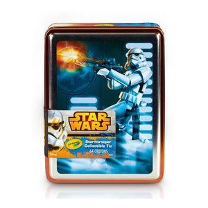 Color Crayons Stormtrooper Collectible Tin 64 ct