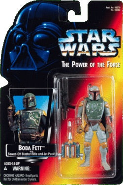 Boba Fett with Sawed-off Blaster Rifle and Jet Pack POTF 1995