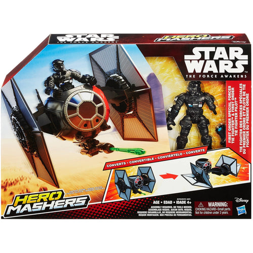 Hero Mashers FO Spec Forces Tie Fighter & Pilot TFA 2015