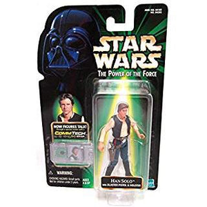 Han Solo with blaster pistol & holster ANH 1999 POTF