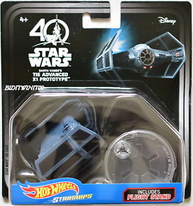 HW Darth Vader's Tie Advanced X1 Prototype Starships 40th Anniversary
