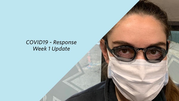 COVID-19 response update week 1: Shipped 300 goggles to healthcare workers already