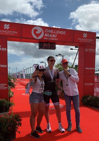 Alexander Mundt, at the finish line in Miami