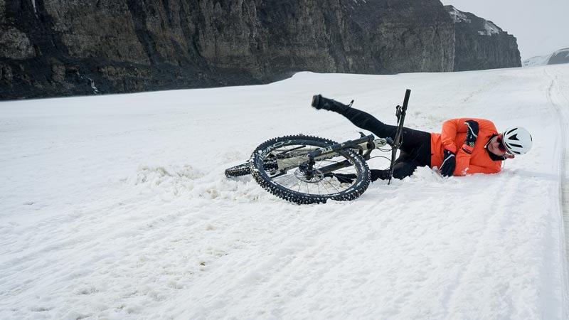 Bike crash Svalbard half-ironman