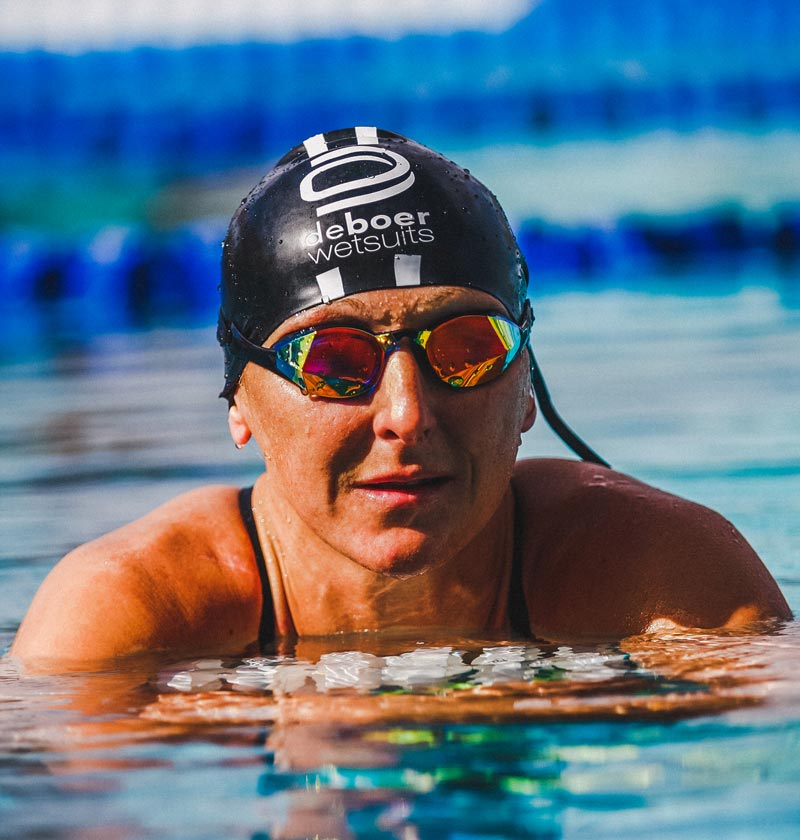 Laura Siddall using custom fit goggles from THEMAGIC5