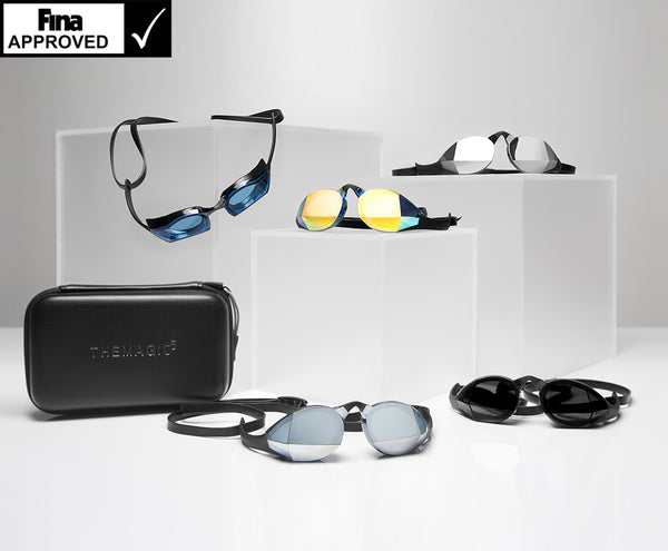 Assortment of TheMagic5 goggles and accessories