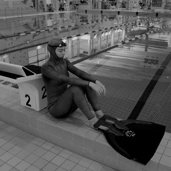 Preparing for a free-dive training set.