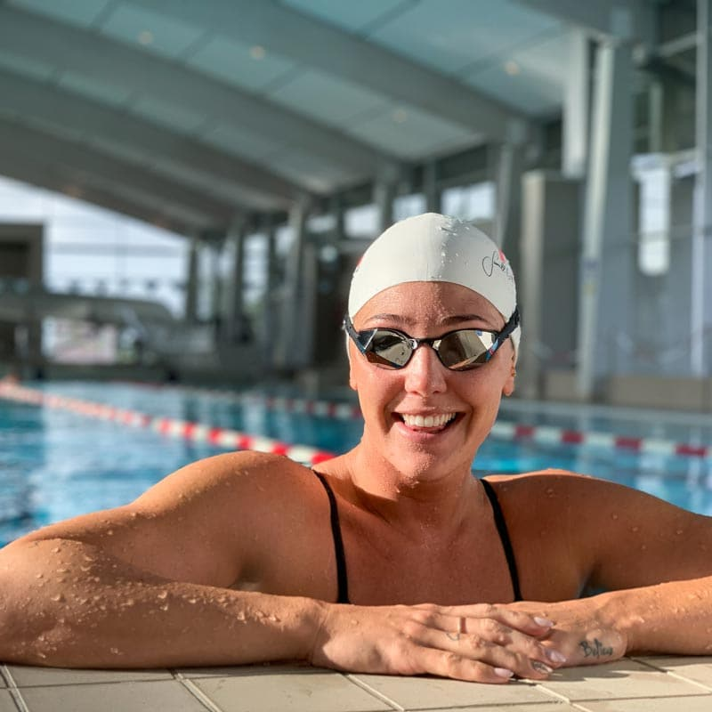 Jeanette Ottesen Swimming in THEMAGIC5 Goggles