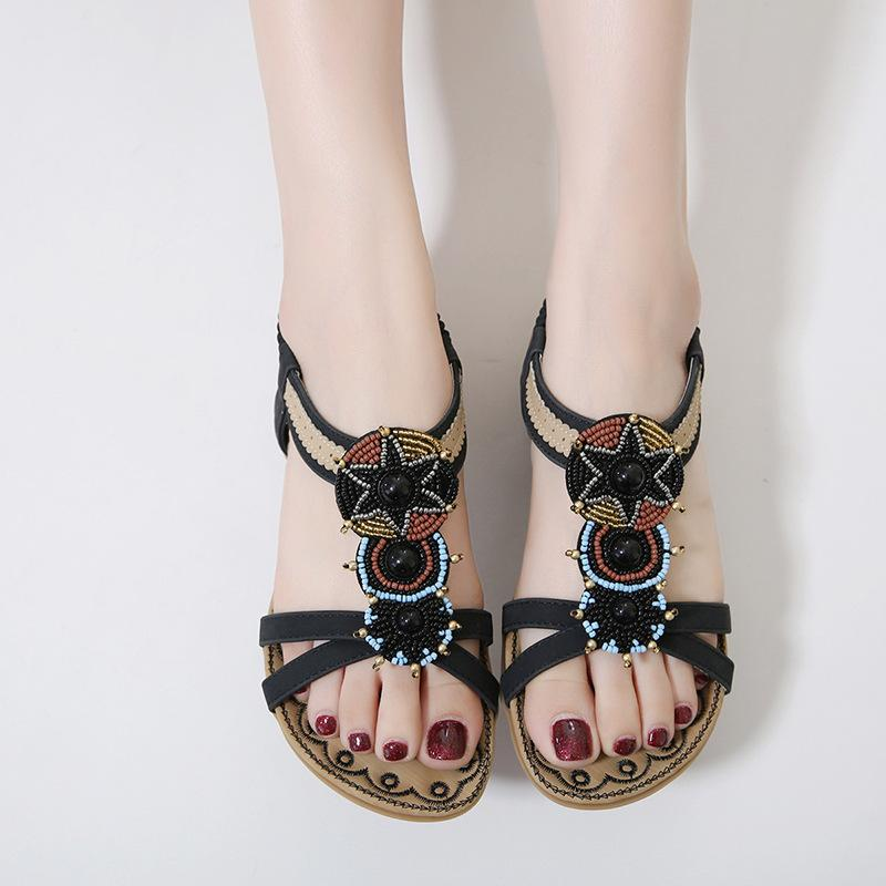 Comfortable Bead Slip Sandals