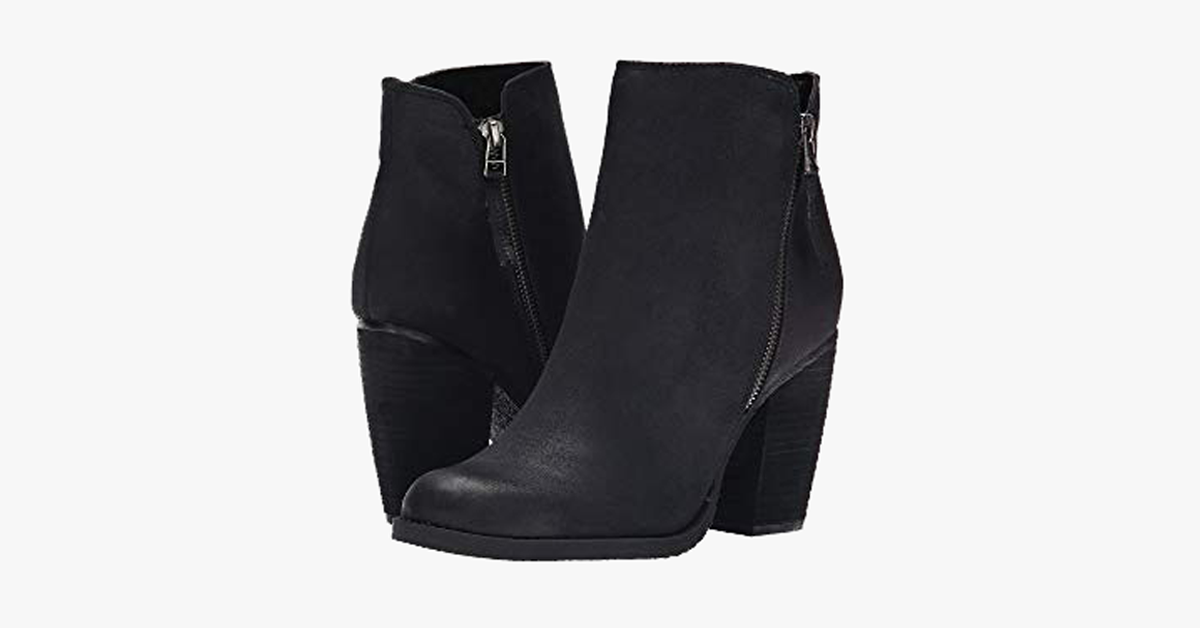 Ankle Length Chunky Heeled Boots