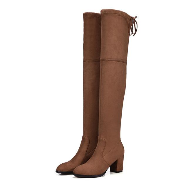 Comfy Boots Women Suede Knee-High Winter Boots