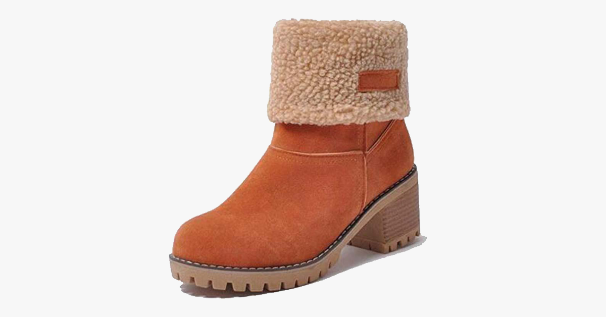 Warm Square Heeled Boots