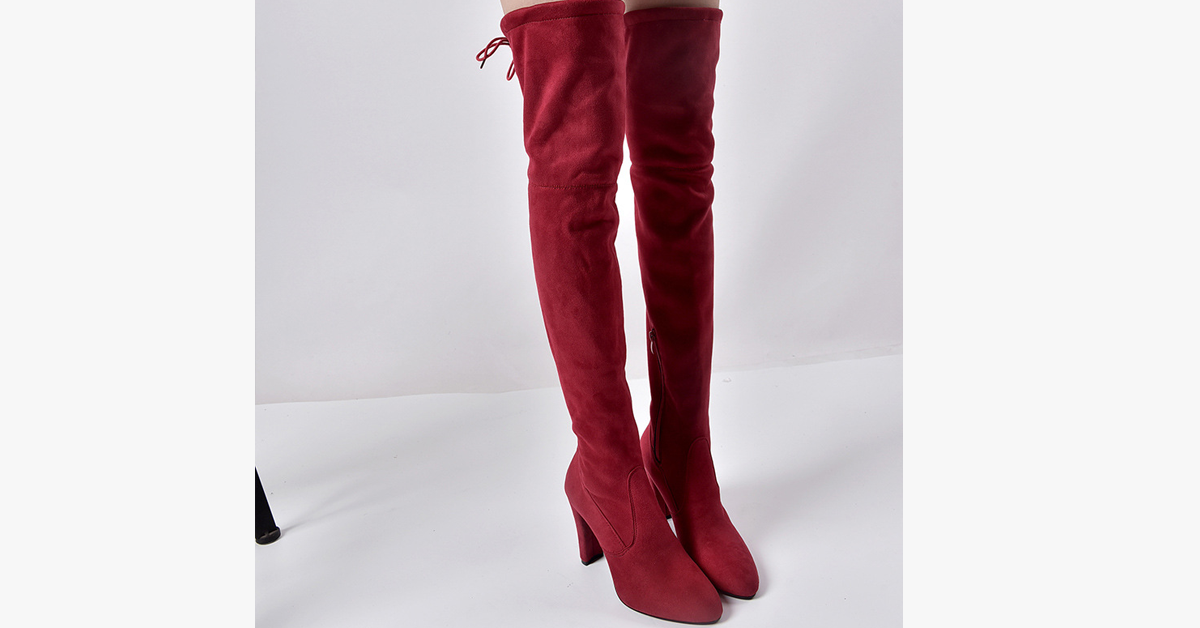 Thigh High Snow Boots