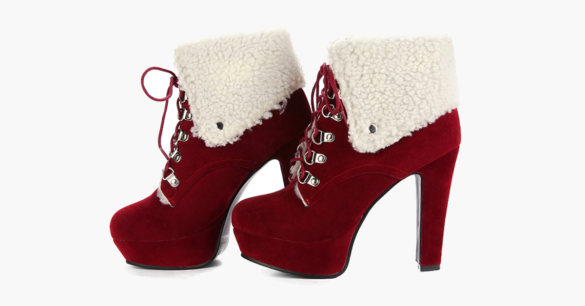 Christmas High Heel Boots