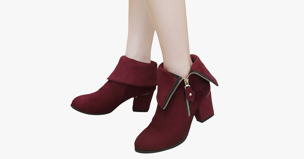 Winter Zipper Calf Boots