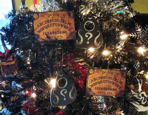 Ouija Board and Planchette Christmas Ornaments