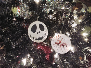Blood Spatter Christmas Ornaments
