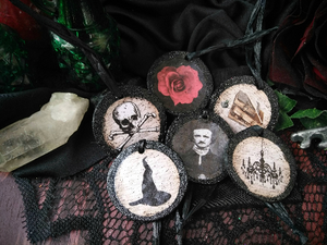 GOTHIC GLITTER Christmas Ornaments