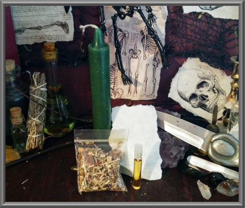 Candle Spell Kit for Money, Abundance, Fertility