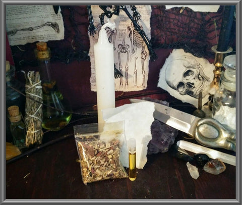 Candle Spell Kit for Cleansing, Protection, Uncrossing