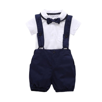 3pcs Gentleman Suspender Cute Baby Boy Clothes Clothing Sets H&Y store