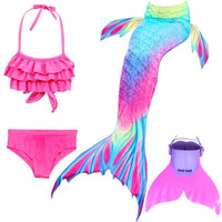4PCS Set Girls Colorful Mermaid Tails For Swimming Girls Costumes Store