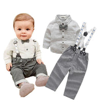 Baby Boy Striped Shirt + Pants Clothing Kids Now Apparel