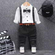 Baby Boy Suit Set Long Sleeve Top Stripe Pants Clothing Sets Kids Now Apparel