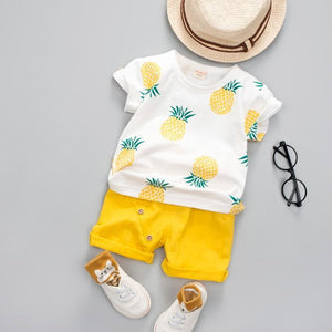 Baby Boy Summer Clothing Fruit Print Baby Clothes Clothing Sets Kids Now Apparel