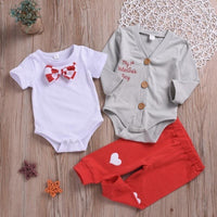 Baby Boy Valentines Day Outfit Infant Outfit Set Clothing Sets Kids Now Apparel