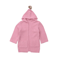 Baby Girl Cardigans Cable Knit Cardigan With Hood Jackets & Coats Kids Now Apparel