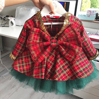 Baby Girl Christmas Dress Plaid And Tulle Dress Dresses Kids Now Apparel