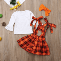 Baby Girls Thanksgiving Outfit Headband Skirt And Top Matching Set Clothing Sets Kids Now Apparel