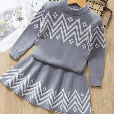 Baby Winter Clothes Geometric Pattern Dress Dresses Kids Now Apparel