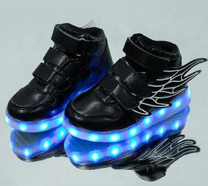 Best Kids Light Up Shoes With Wings Unisex Girls Boys Light Up Shoes Kids Led Shoes Sneakers Kids Now Apparel