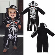 Black Hooded Baby Skeleton Halloween Costumes Kids Now Apparel