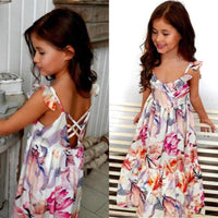 Boho Ruffle Backless Women Floral Girl Dress Kids Now Apparel