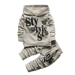 Boys Hooded Top + Pants Set Clothing Sets Kids Now Apparel