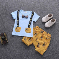 Cartoon Printed Summer Cotton Cute Baby Boy Outfits Clothing Sets Kids Now Apparel