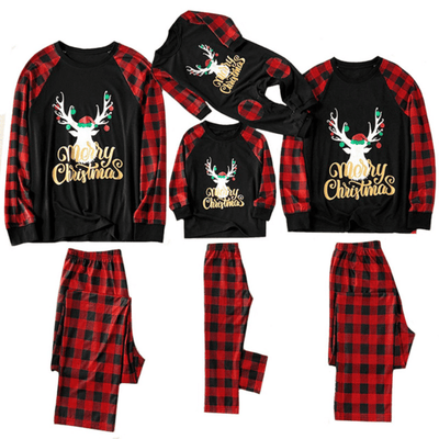 Christmas Family Pajamas Set Printed Sleepwear Matching Family Outfits Daisy Dress For Less