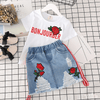 Clothes For Toddler Girls White Shirt And Skirt Set Clothing Sets Kids Now Apparel