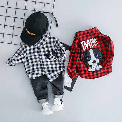 Clothing Sets For Baby Boy Plaid Long Sleeves Top + Jeans Set Clothing Sets Kids Now Apparel